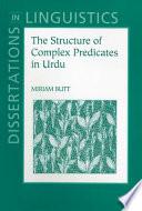 The Structure of Complex Predicates in Urdu