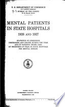 Patients in Hospitals for Mental Disease  1926  1937  Book