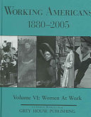 Working Americans  1880 1999  Women at work Book