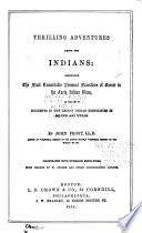Thrilling adventures among the indians comprising the most front cover fandeluxe Document