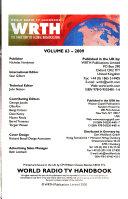 World Radio TV Handbook  Wrth 2009