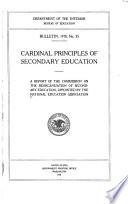 Cardinal Principles Of Secondary Education