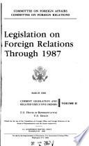 Legislation on Foreign Relations Through     Book