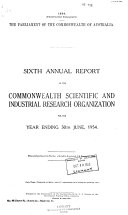 Annual Report of the Commonwealth Scientific & Industrial Research Organization