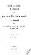 Abhandlungen u. Bericht des Vereins für Naturkunde zu Kassel ...