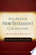 Colossians And Philemon Macarthur New Testament Commentary Book PDF