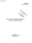 EPA Publications Bibliography