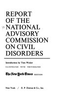 Report of the National Advisory Committee on Civil Disorders Book PDF