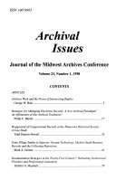 Archival Issues Book PDF
