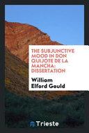 The Subjunctive Mood in Don Quijote de la Mancha