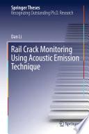Rail Crack Monitoring Using Acoustic Emission Technique