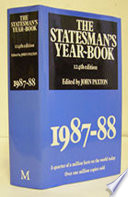 The Statesman S Year Book 1987 88