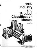 1992 Industry and Product Classification Manual