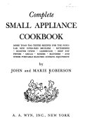 Complete Small Appliance Cookbook