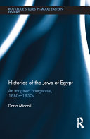 Pdf Histories of the Jews of Egypt Telecharger