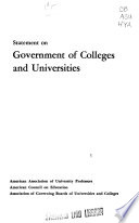 Statement on Government of College and Universities