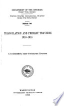 Triangulation and Primary Traverse  1916 1918