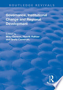 Governance, Institutional Change and Regional Development