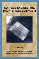 Surface Engineering In Materials Science Iii Book PDF