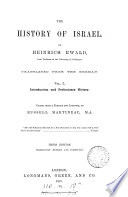 The history of Israel  tr   ed  by R  Martineau  J E  Carpenter  J F  Smith   Book