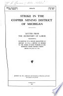 Strike in the Copper Mining District of Michigan