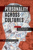 The Praeger Handbook of Personality Across Cultures  3 volumes