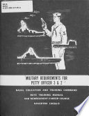 Military Requirements for Petty Officer 3   2 Book