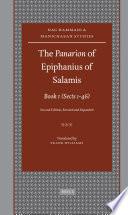 The Panarion Of Epiphanius Of Salamis Book I