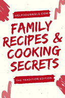 Blank Cookbook for Family Recipes and My Favorite Recipes  Cookbook Gifts Series