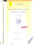 Directory of Members as of December 1980