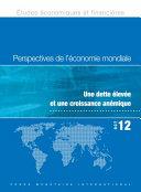 Perspectives de l'économie mondiale, Octobre 12