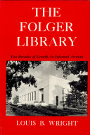 Folger Library, Two Decades of Growth