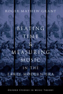 Pdf Beating Time & Measuring Music in the Early Modern Era Telecharger