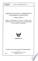 Compiled Statutes Committee On Government Operations