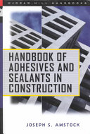 Handbook of Adhesives and Sealants in Construction