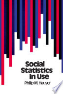 Social Statistics in Use