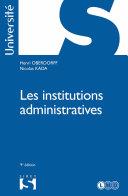 Pdf Les institutions administratives - 9e éd. Telecharger