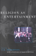Read Online Religion as Entertainment For Free