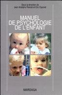 Manuel de psychologie de l'enfant