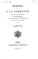 Mémoires lus à la Sorbonne dans les séances extraordinaires du Comité Impérial des Travaux Historiques et des Sociétés Savantes ebook