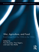 War  Agriculture  and Food