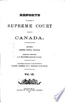 Reports Of The Supreme Court Of Canada