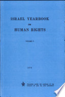 Israel Yearbook On Human Rights 1979