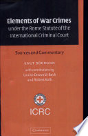 Elements Of War Crimes Under The Rome Statute Of The International Criminal Court