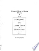 Six little duets for two violins [music] : op. 8, Duets, violins B. 574-579
