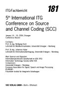 International ITG Conference Source and Channel Coding