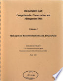 Buzzards Bay Comprehensive Conservation and Management Plan: Management recommendations and action plans