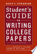 Student s Guide to Writing College Papers Book