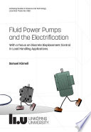 Fluid Power Pumps and the Electrification
