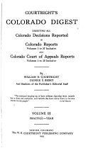 Courtright S Colorado Digest
